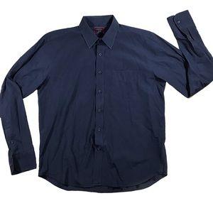 Untuckit size medium navy blue button up shirt